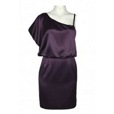 Jessica Simpson 6 Nwt Potent Purple Dolman Sleeve One Shoulder Satin Dress S 6