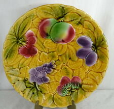 GRAND PLAT A DESSERT BARBOTINE SARREGUEMINES MOTIF FRUITS