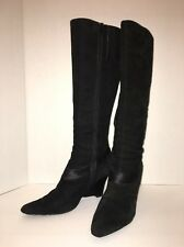 Nine West, Tall Black Suede Boot, 7 1/2 M