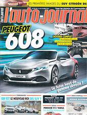 L'AUTO JOURNAL N° 905 . avril 2014 / PEUGEOT 608 / 308 SW / Q3 / LANCIA  FLAVIA