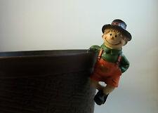 Straw Scarecrow Fall Shelf Sitter Hanger Huggers Garden Flower Pot Statue #2