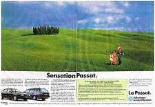 PUBLICITE  1993  VOLKSWAGEN    PASSAT sensation  (2 pages)