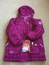 NWT Girls Youth MARKER Winter Ski Starlet Raspberry Plaid Jacket Size 6 $69.95