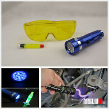 LED Light +Safety Glasses+ Air Conditioning UV Leak Detector A/C Gas Detection