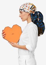 Limited Heart NEW Authentic Hermes brides de gala Love Silk Scarf 90cm 35''