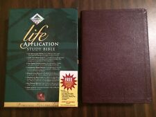 NLT 1996 Life Application Study Bible - Burgundy Genuine Leather - Out of Print
