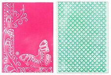 Sizzix Emboss Butterfly Lattice 2pk set #658483 MSRP $10.99 Rachel Bright A6