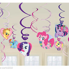 MY LITTLE PONY Friendship is Magic SWIRL DECORATIONS (12) ~ Birthday Supplies