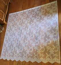 Heritage Lace Polyester White Flower Shower Curtain 72W x 70L(832) Factory Error