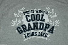 Mens Tee Shirt SMALL 34-36 Grey THIS IS WHAT A COOL GRANDPA LOOKS LIKE