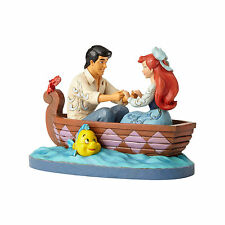 Jim Shore Disney Traditions Ariel & Prince Eric Boat Waiting For A Kiss 4055414