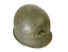 Rare Original Vintage WWII US Military M1 War Helmet Shell - Stamped 602B 1940s