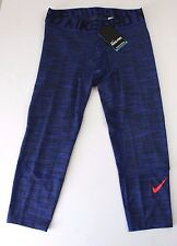 NEW Nike Men's Pro Hypercool 3/4 Compression Tights Pants 811392 451 Blue Size L