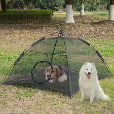 """PawHut 74"""" Portable Pet Tent Dog Enclosure Playpen Crate Fence Nest w/ Bag Black"""