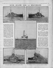 Escadre Marine Nationale Méditerranée Forts des Dardanelles Jean Bart 1915 WWI