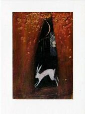 YULE WICCAN GREETNG CARDS Twilight House PAGAN Wiccan HARE CATHERINE HYDE