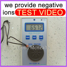 6000 ~ 7000 negative ions Quantum Scalar Energy Pendant provide ion test video