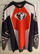 THOR MOTOR CROSS JERSEY-SERIES # 2004-MENS S-100% POLY-RED WHITE BLUE-AS UNWORN