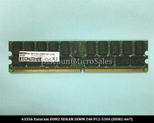 Dataram 63356 DDR2 4GB PC2-5300 Registered Reg ECC 667Mhz 2Rx4 Server RAM Memory
