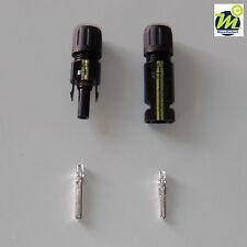 10 Paar Sets Silverline Solarstecker MC 4 komp.für 2,5-6,0 mm², Stecker, Buchse