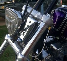 No-Brow Headlight Mount CHROME - Harley, Triumph, Sportster