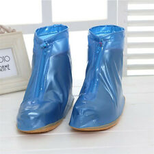 Women Non-slip PVC Rainproof Overshoes Shoe Covers Girls Waterproof Zippered