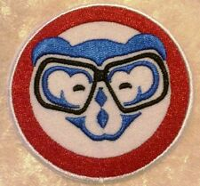 """Chicago Cubs 3"""" Iron On Cub w/Glasses Embroidered Patch ~FREE SHIP!~"""