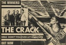 """3/4/82Pgn43 ADVERT 7X11"""" THE CRACK : DONT YOU EVER LET ME DOWN SINGLE"""