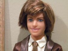 Articulated Fashionista Ken Ryan Doll Rooted Brown Hair Legs Bend Blue Eyes EUC