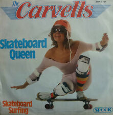 "7"" 1978 MEGA RARE IN VG++ ! CARVELLS : Skateboard Queen"