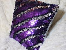 "Mermaid Pillow Cover, 16"" Purple/Silver, Sequin Pillow Cover Throw Pillow Cover"