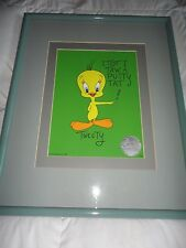 "Tweety Bird Animation Cel by Bob Clampett Limited Ed ""I Tot I Taw A Putty Tat!"""