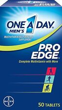 3 Pack One-A-Day Men's Pro Edge Complete Multivitamin 50 Tablets Each