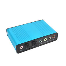 Digital USB 6 Channel External Sound Card 5.1 Adapter Audio S/PDIF Laptop New