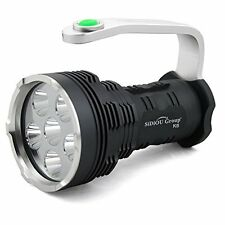 Sidiou Group Searchlight High-Power Super Bright 8000 Lumens 6X Cree Xm-L T6 Led