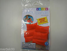 "SWIMMING ARM BANDS  FOR AGAES 3-6 TWO PAIR PER PACK 7 1/2"" X 7 1/2""--ORANGE"