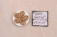 Food - Plate of Chocolate Chip Cookies - 1/12 scale dollhouse miniature 2318-19