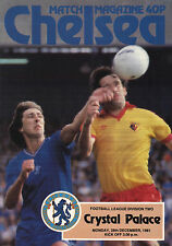 1981/82 Chelsea v Crystal Palace, Division 2, PERFECT CONDITION