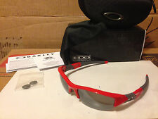 NEW Oakley Flak Jacket (AF) Sunglasses, Infrared / Black Iridium, 03-906J