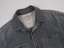 RL800 HILFIGER DENIM NYC SHIRT TOP ORIGINAL PREMIUM GREY size S