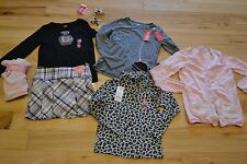 7 Girl lot gymboree tres chic 8 pc  new nwt leggings shirts skirts sweater hair
