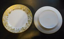 Williams Sonoma Plymouth Gold Dinner Plates S/4 New in Box Free Shipping #55