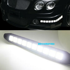2x White LED cob Daytime Day Fog Light DRL Run strip For Bentley Continental GT