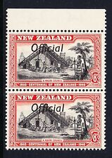 NEW ZEALAND 1940 8d CENTENNIAL 'ff' JOINED IN PAIR WITH NORMAL SG O149a MNH.