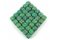 Chessex - Phantom - Green/white dice block (12mm) x 36