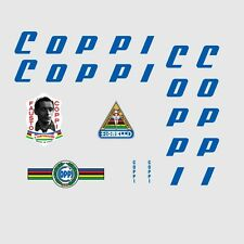 Coppi Bicycle Decals-Transfers-Stickers Blue - 1970s - n.2