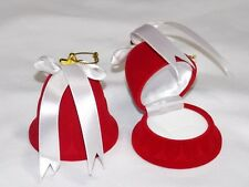 Christmas Velvet Bell Gift Box Ring or Earrings or Necklace Shaped Ornament