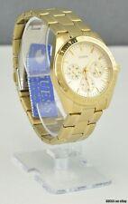 Nuevo Con Etiquetas Caja De Reloj Guess Oro Cadena De Acero Inoxidable señoras Nuevo u12004l2