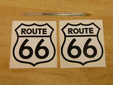 ROUTE 66 - car stickers / America - Mother Road - USA -  2x 90mm decals B & W