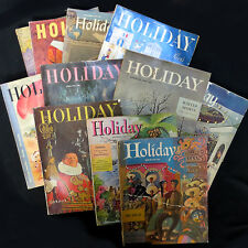 1st Edition! 11 Holiday Magazines 1946-49 Paris Florida Mexico London Hollywood